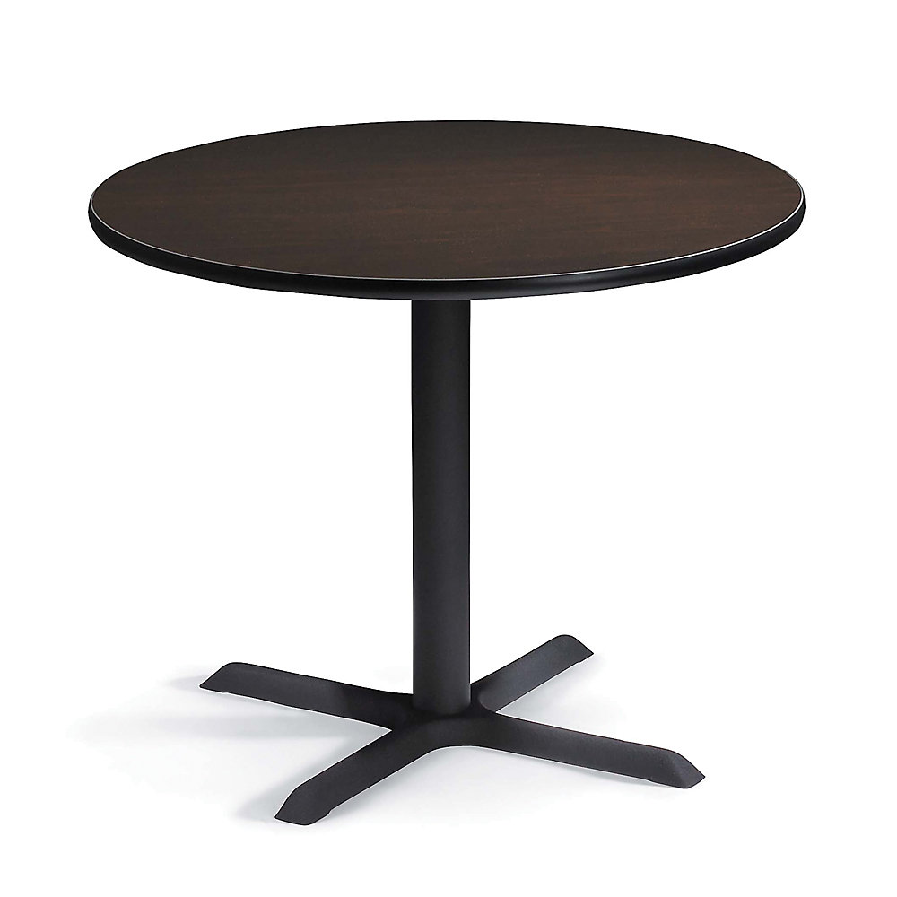 REGENCY Round Cafeteria Table - 36' Diameter - Mocha Walnut