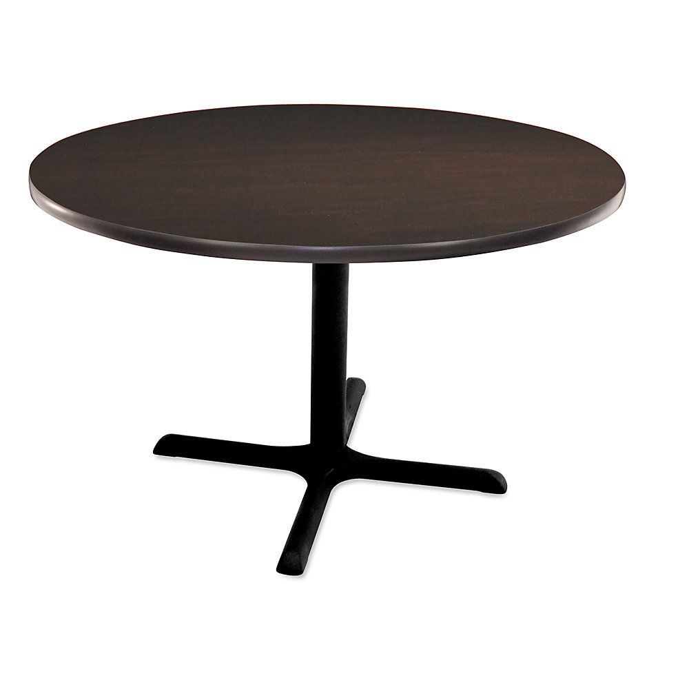 REGENCY Round Cafeteria Table - 42' Diameter - Mocha Walnut
