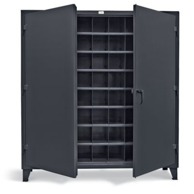 Placeholder - KMC Forklift €� STRONG HOLD Metal Bin Storage Cabinet €� 72″Wx24