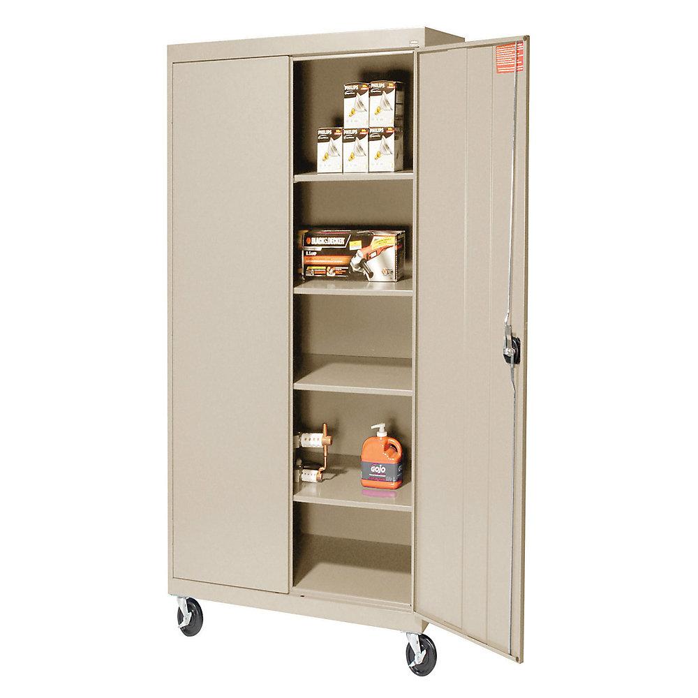 Portable Storage Cabinets : Sandusky lee mobile storage cabinet putty
