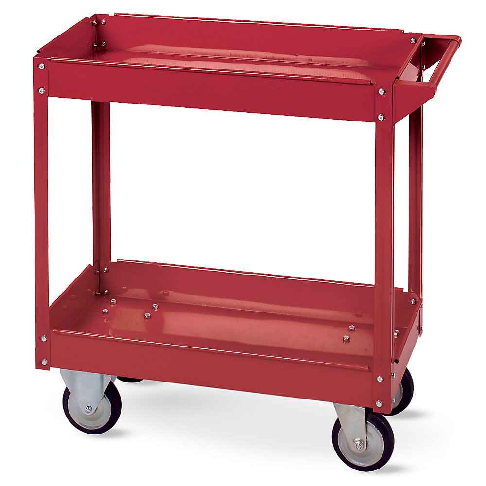 Relius Solutions Tray-Shelf Steel Carts - Steel Handle And Posts