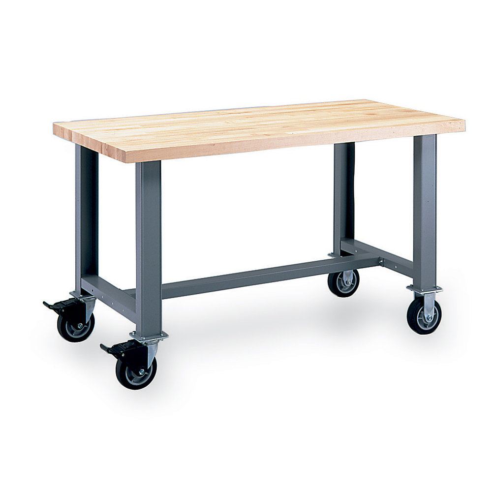 Lista Mobile Workbench Standard Bench 60 30 Steel Top Classic Blue Quanoodle