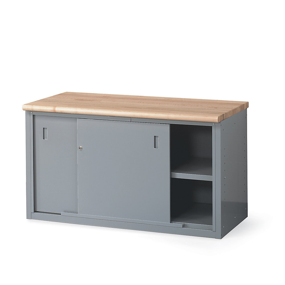 Lyon Cabinet Style Workbench 72x28x34 With Doors