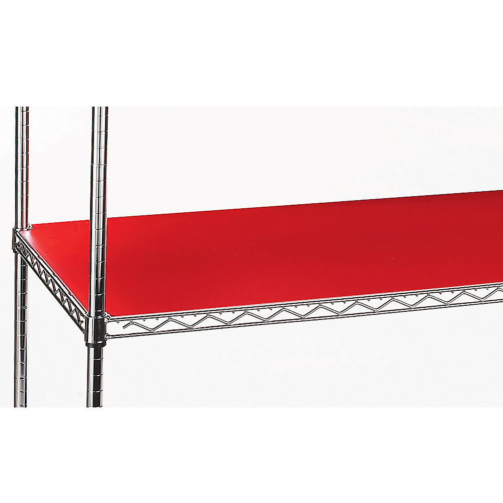 RELIUS SOLUTIONS PVC Shelf Liners for 1' Dia. Post Shelving - 36x18' - Red