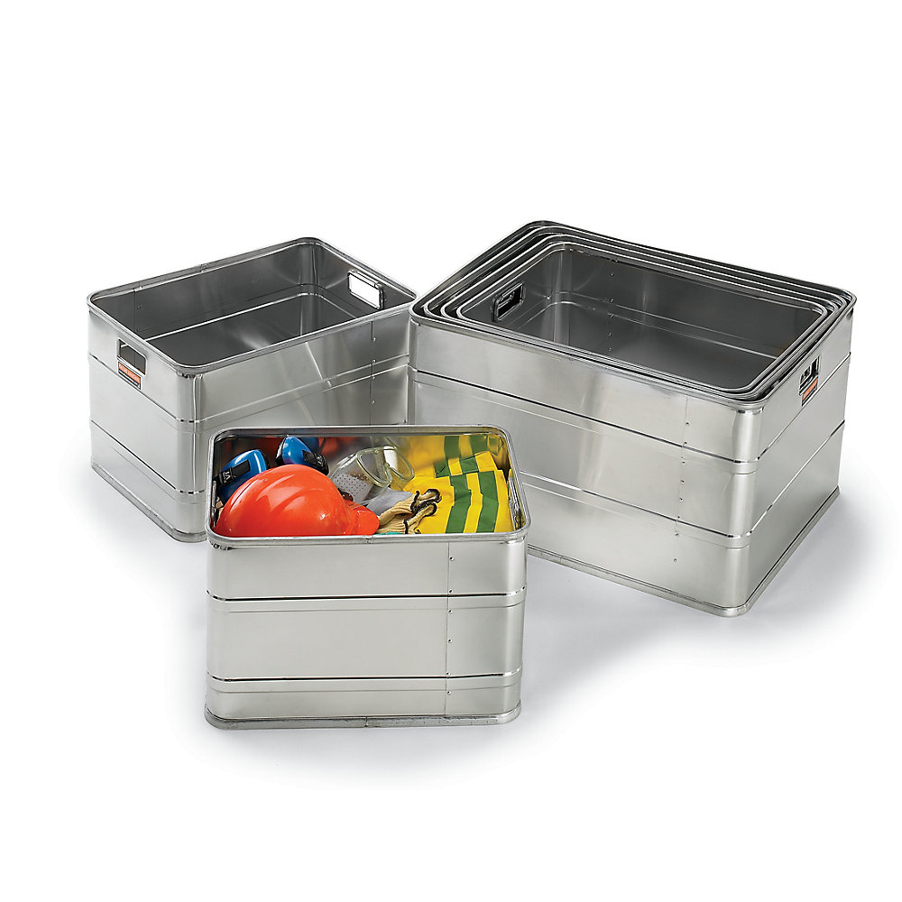 Clearance - Relius Solutions Aluminum Storage Container - Set Of 6 Multi-Sized Containers