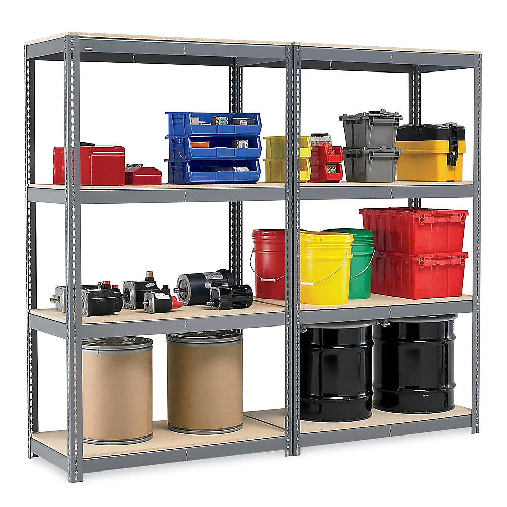Relius Solutions Double-Rivet Storage Racks With Particleboard Decking - Starter Units