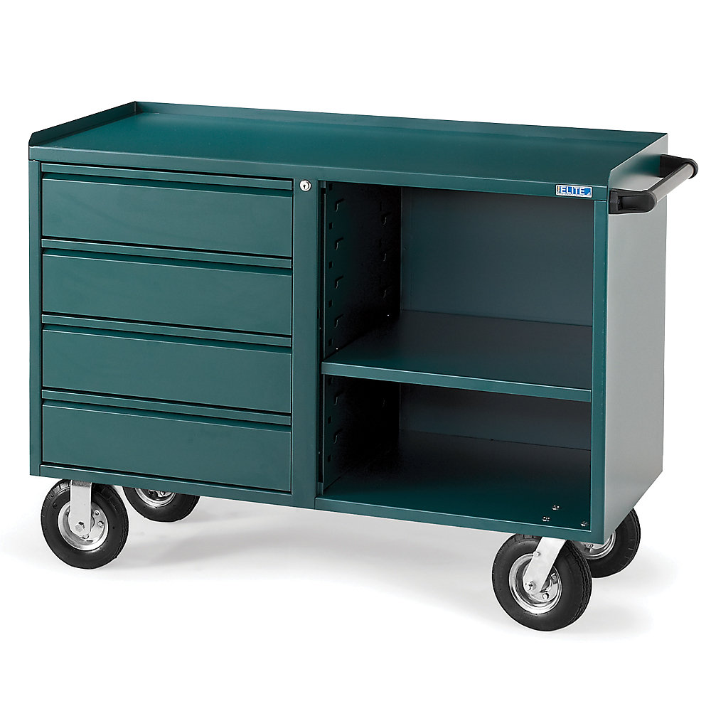 Relius Eilite Four-Drawer Bench Truck - 48X21x27