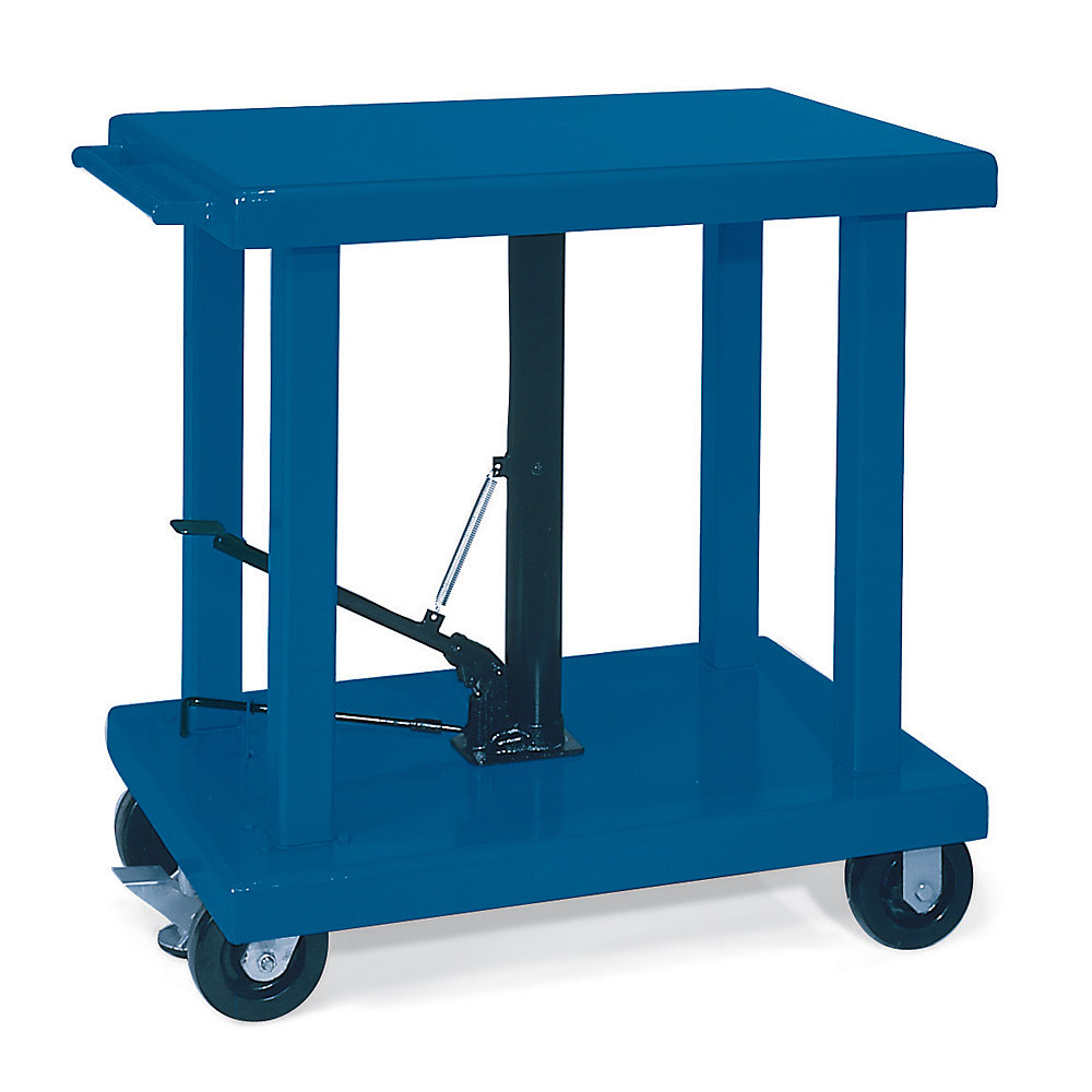 Mobile Hydraulic Lifts : Wesco foot pedal operated mobile hydraulic lift tables