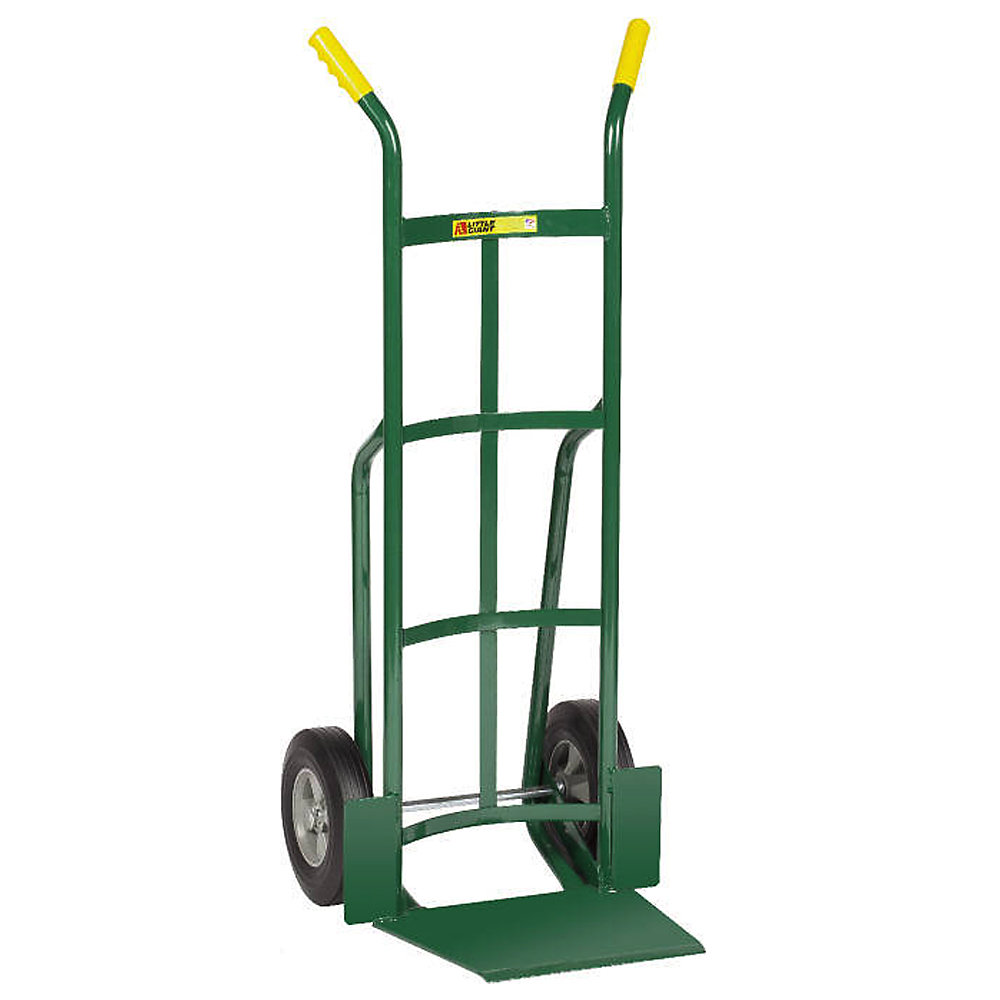 "Little Giant Oversized Noseplate Hand Trucks - 10"" Full Pneumatic - Dual Handle - Green (T-362-10P)"