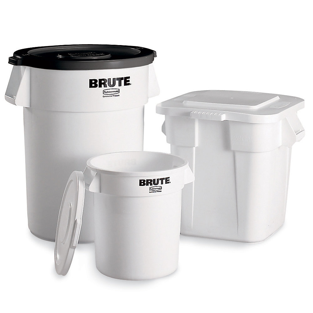 RUBBERMAID® RUBBERMAID BRUTE Round Containers - 32-Gallon Capacity