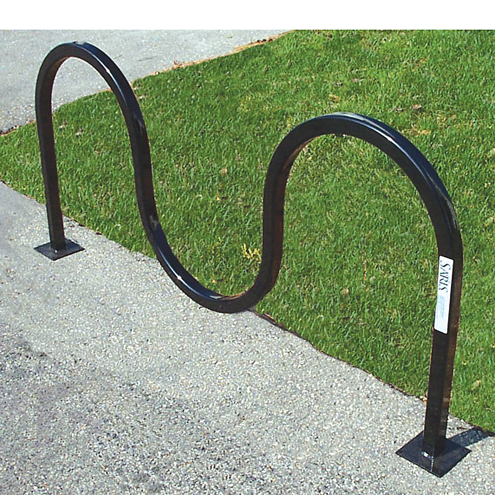 SARIS Wave Square Tube Bike Rack - Holds 5 Bikes - Flange mount - Black