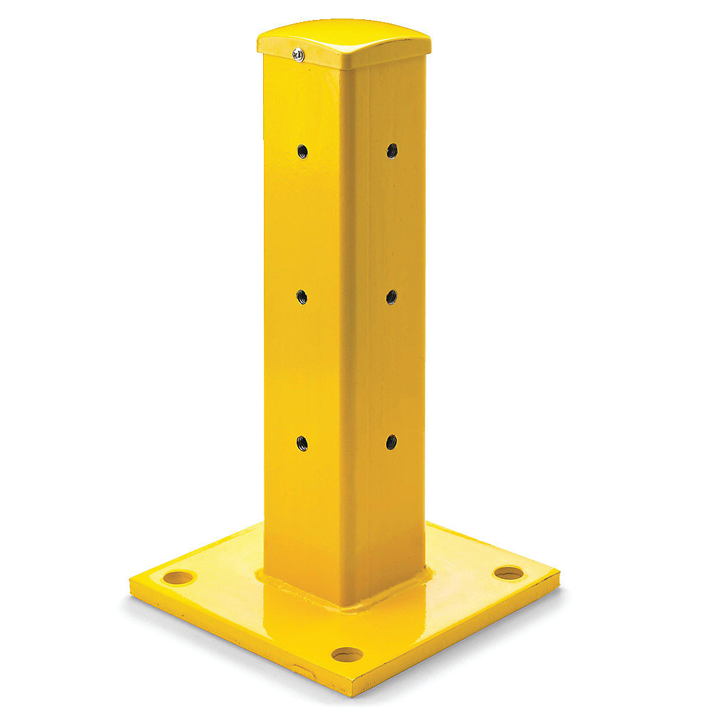 Relius Solutions Steel Guard Rail System - Universal Posts - Yellow - Single-Rail - Yellow