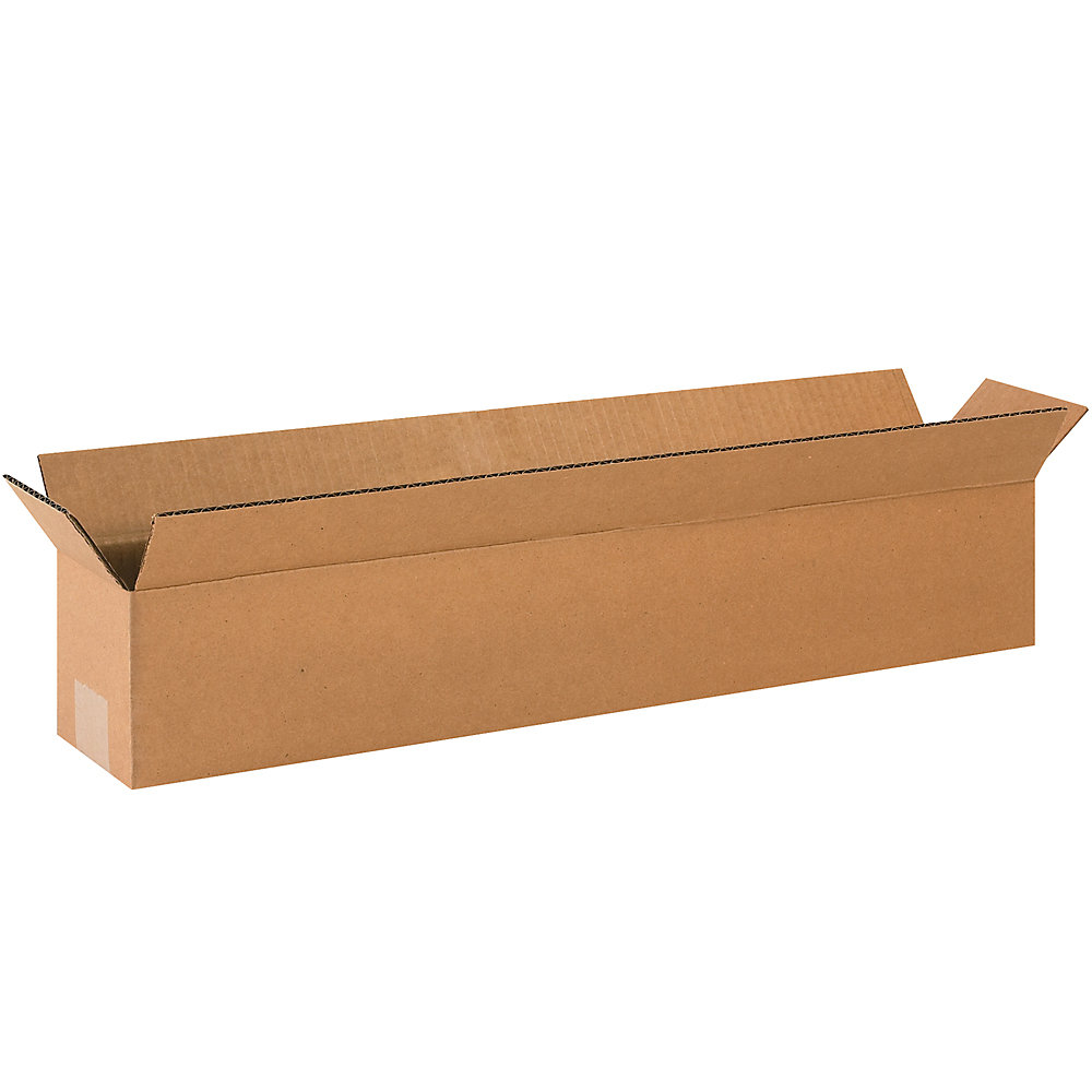 storage containers cheap long boxes 24x4x4 kraft. Black Bedroom Furniture Sets. Home Design Ideas