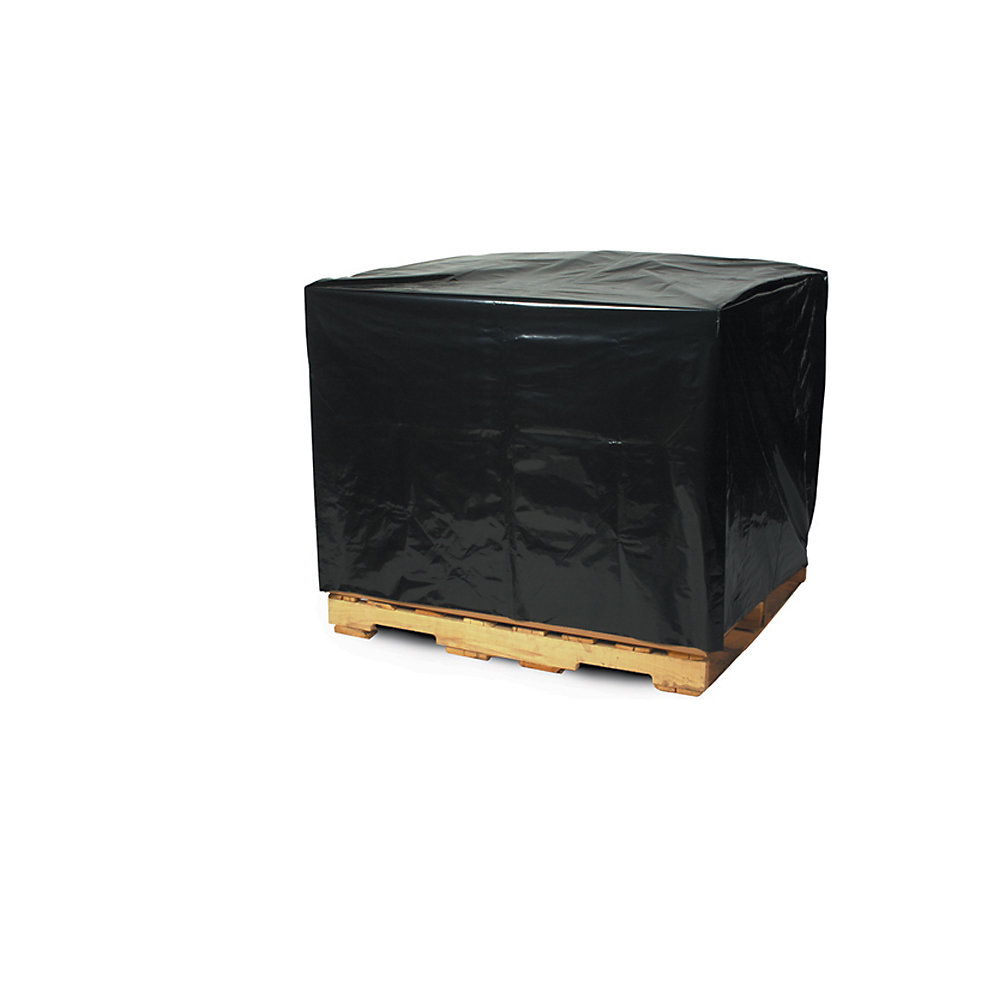"Black Pallet Covers - 48X36x72"" - 3 Mil - Black Warehouse Discount"