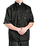 Black Classic Short Sleeve Chef Coat