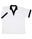 White Cook Shirt with Black Trim, Clearance