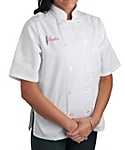 Womens White Classic Short Sleeve Chef Coat