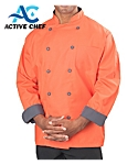 Mens Long Sleeve Active Chef Coat