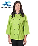 Womens ¾ Sleeve Active Chef Coat