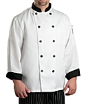 Chef Coat Black Contrast, Clearance