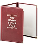 Triple Pocket Fine Cafe Menu Covers