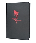 6 View Book Style Bonded Leather Menu Cover