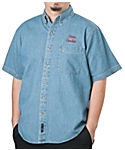 Mens Denim Shirt, Short Sleeve