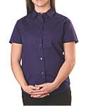 Womens Wrinkle Resistant Dress Shirt, Short Sleeve, Clearance