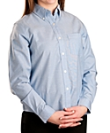 Womens Long Sleeve Oxford Shirt