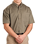 Mens Twill Shirt, Short Sleeve, Clearance