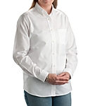 Womens Longer Tail Long Sleeve Oxford Shirt
