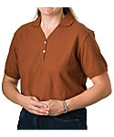 Womens Solid Short Sleeve Sport Shirt, Clearance