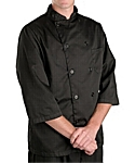 Black ¾ Sleeve Chef Coat