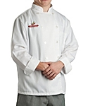 White Classic Long Sleeve Chef Coat