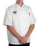 White Classic Short Sleeve Chef Coat