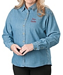 Womens Denim Shirt, Long Sleeve