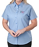 Womens Short Sleeve Lightweight Poplin Shirt