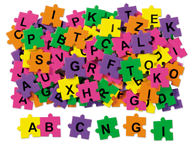 peel stick puzzle letters at lakeshore learning