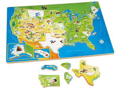 USA Map Puzzle At Lakeshore Learning - Us map pizzle