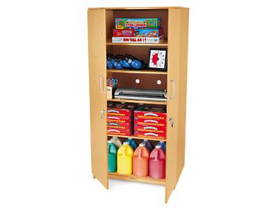 Classic Birch Locking Storage Cabinet At Lakeshore Learning - Storage Cabinets With Locks Cymun Designs