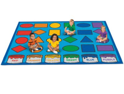 Delightful Classroom Carpet   Learning Shapes U0026 Colors Activity At Lakeshore Learning