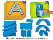 magnetic letter builders class set