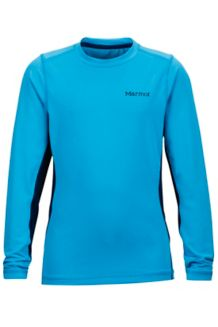 Boy's Kestrel LS Crew, Bahama Blue/Arctic Navy, medium