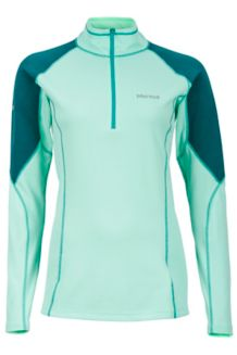 Wm's ThermalClime Pro 1/2 Zip, Green Frost/Gator, medium
