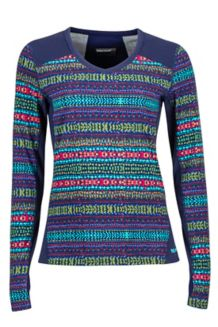 Wm's Lana V Neck Crew, Arctic Navy/Totem, medium