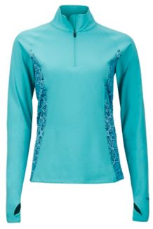 Wm's Meghan 1/2 Zip, Waterfall/Frosty, medium