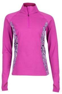 Wm's Meghan 1/2 Zip, Purple Orchid/Flurry, medium