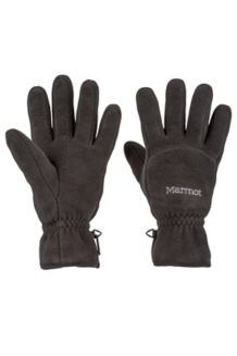 Fleece Glove, Black, medium