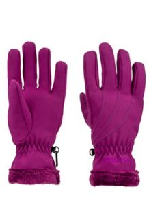 Wm's Fuzzy Wuzzy Glove, Deep Plum, medium