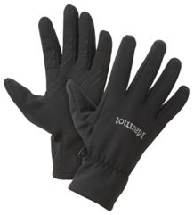 Connect Softshell Glove, Black, medium